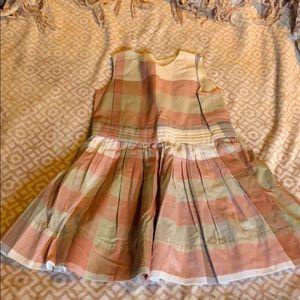 Burberry girls' pink dress